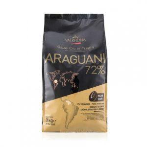 Ciocolata Araguani 72% granule 3 kg