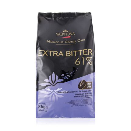 Ciocolata Extra Bitter 61% granule