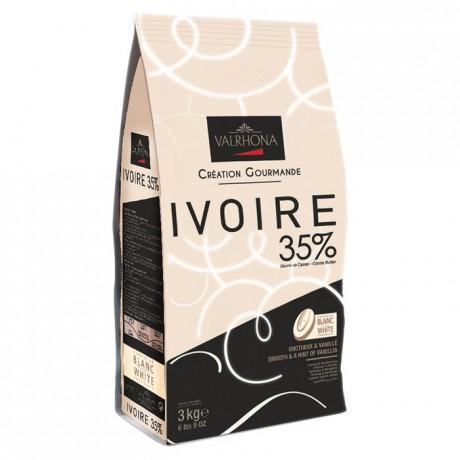 Ciocolata Ivoire 35% granule 3 kg