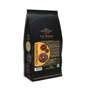 Ciocolata neagra Crunchy Pearls 55% box 3kg