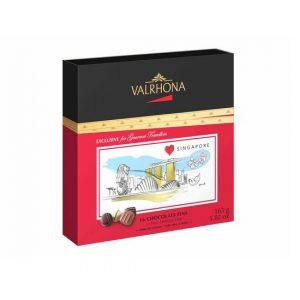 16 ciocolate Dark, Milk & White cutie de cadou Singapore 165g