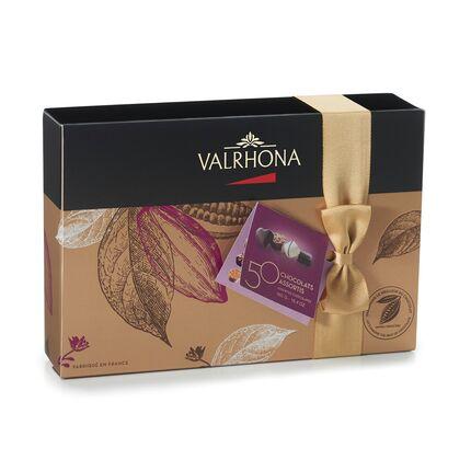 Cutie de 50 de ciocolate asortate Valrhona 465g