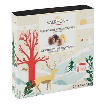 Cutie de cadou de Craciun cu cicolate Truffles 210g
