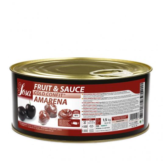 Amarena 15x15mm Fructe si sos (1,5 kg), Sosa