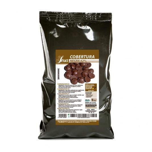 Ciocolata neagra 62% cuvertura (5 kg), Sosa