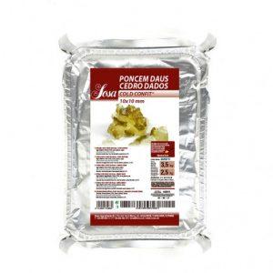 Cuburi de chitru (citrus medica) 10x10mm COLDCONFIT® (3,5 kg), Sosa