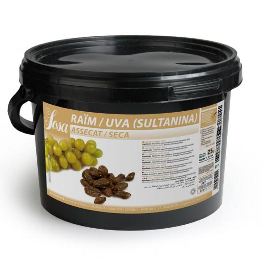 Struguri Sultana uscate (2,5 kg), Sosa