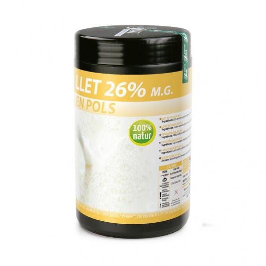 Lapte natural praf 26% grasime, Sosa