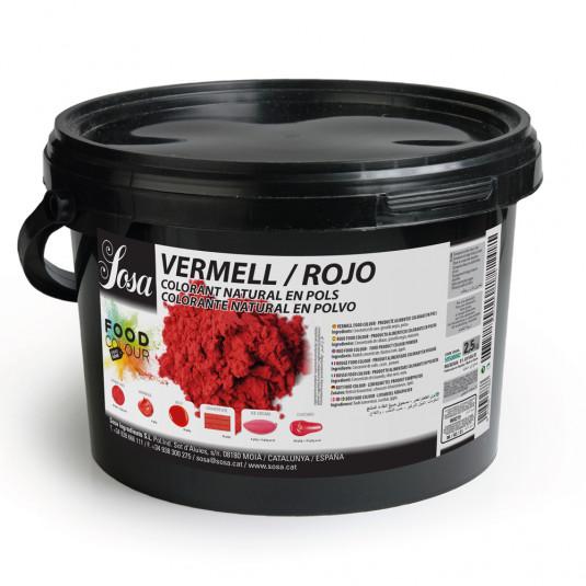 Rosu - colorant alimentar praf, Sosa