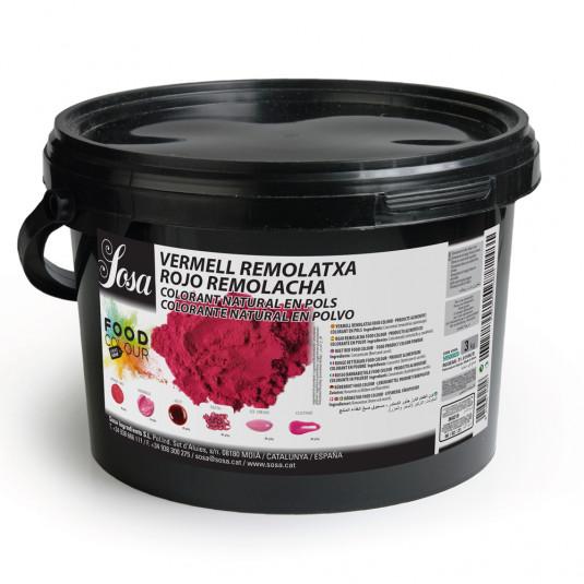Rosu de sfecla - colorant alimentar praf, Sosa