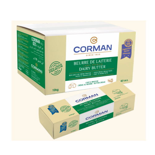 Unt de lapte 82% grasime bloc, Corman
