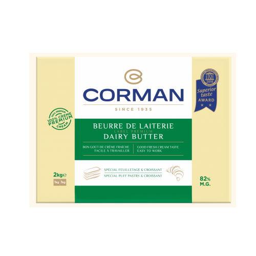 Unt de lapte 82% grasime foaie, Corman