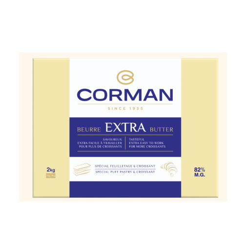 Unt Extra 82% grasime foaie, Corman