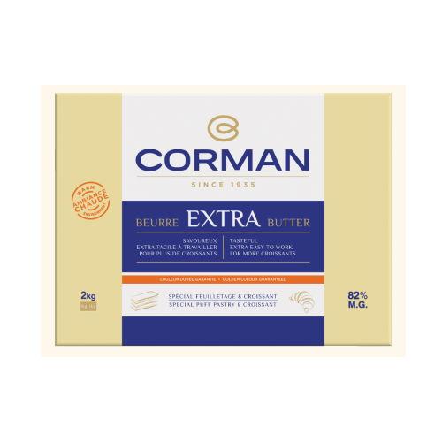 Unt Extra la cald mediu 82% grasime foaie, Corman