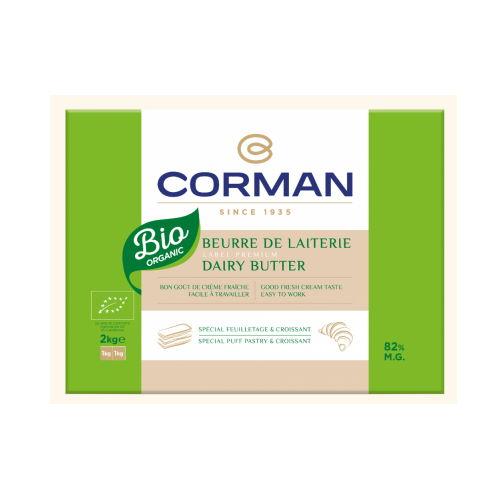 Unt organic de lapte 82% grasime foaie, Corman