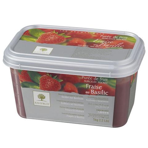 Căpșună cu Busuioc - piure congelată Ravifruit