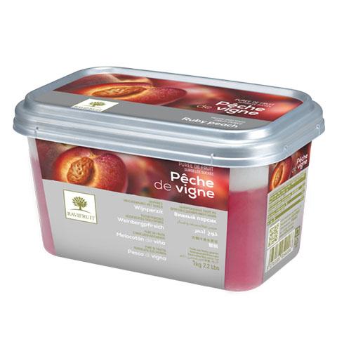 Piersic rubiniu - piure congelată Ravifruit