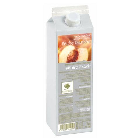 Piersică albă - piure de fructe Ravifruit