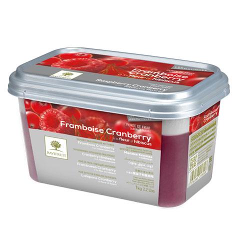 Zmeură Cranberry Hibiscus - piure congelată Ravifruit